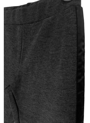 By Leyal For Kids Kenarları Şerit Detaylı Tayt Pantolon-71080 Antrasit